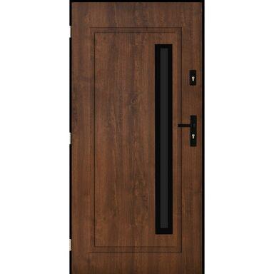 Drzwi stalowe zewnętrzne Paryż 2 Orzech 90 lewe Pantor
