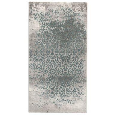 Dywan TAMARES szary i turkusowy 80 x 150 cm wys. runa 12 mm MULTI-DECOR