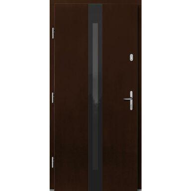 Drzwi wejściowe IZAR Orzech 90 Lewe