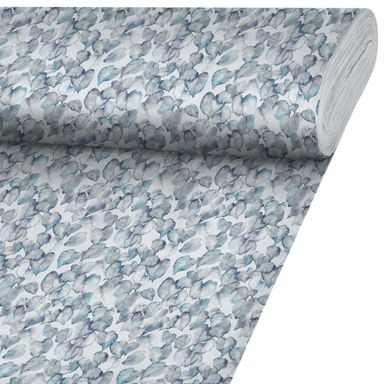 Tkanina na mb ELDARIN niebieska szer. 140 cm INSPIRE