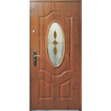 Drzwi wejściowe TENERYFA Złoty dąb 90 Prawe S-DOOR