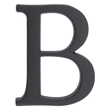 Litera B wys. 10.5 cm aluminiowa grafitowa