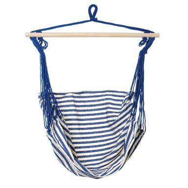 Hamak - krzesło brazylijskie biało-niebieskie