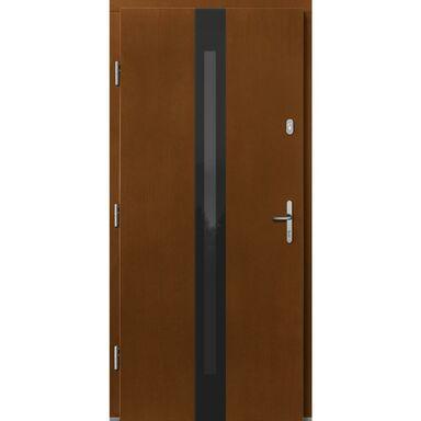 Drzwi zewnętrzne drewniane Izar sosna afromozja 90 lewe Lupol