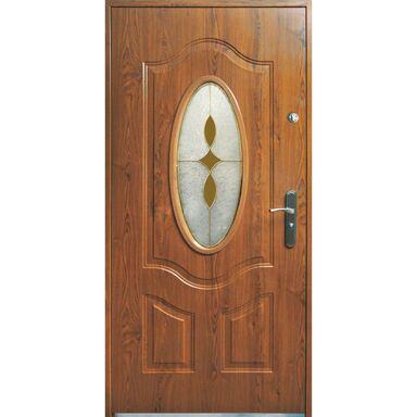 Drzwi zewnętrzne staloweTENERYFA Orzech 90 Lewe S-DOOR