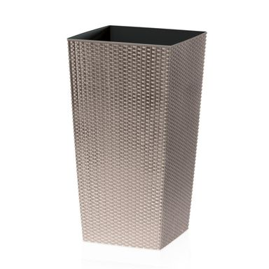 Osłonka plastikowa 26.5 x 26.5 cm beżowa RATO SQUARE PROSPERPLAST