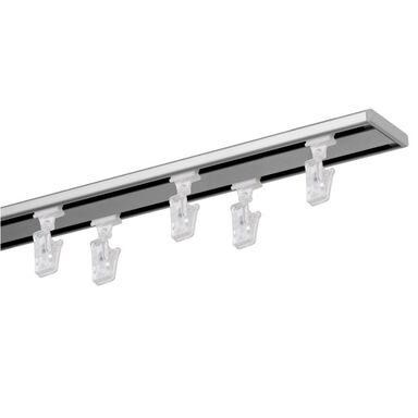 Szyna sufitowa 2-torowa SLIM 200 cm srebrna aluminiowa MARDOM