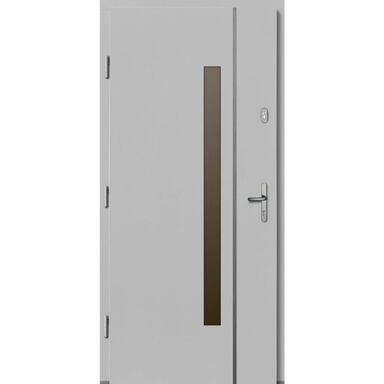Drzwi zewnętrzne drewniane Kalipso białe 90 lewe Lupol
