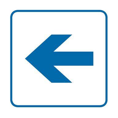 Znak informacyjny STRZAŁKA 14.8 x 14.8 cm