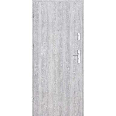 Drzwi zewnętrzne drewniane Grafen Dąb Srebrny 80 Lewe otwierane na zewnątrz Nawadoor