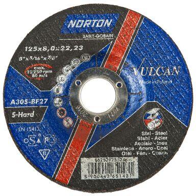 Tarcza do szlifowania stali T27 NORTON VULCAN