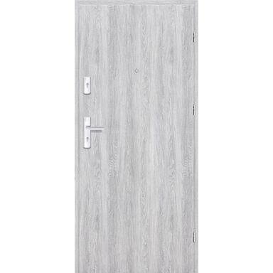 Drzwi zewnętrzne drewniane Grafen Dąb Srebrny 80 Prawe otwierane na zewnątrz Nawadoor