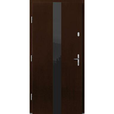 Drzwi zewnętrzne drewniane Dorado orzech 90 lewe Lupol