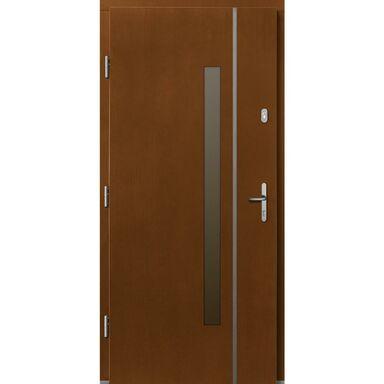 Drzwi zewnętrzne drewniane Kalipso afromozja 90 lewe Lupol