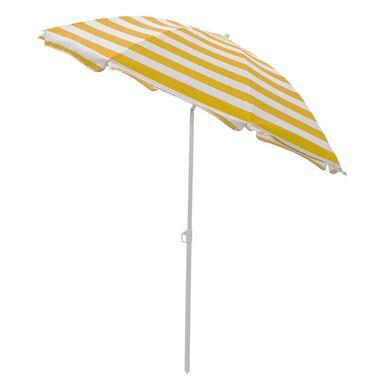 Parasol plażowy 180 cm żółto-biały w paski