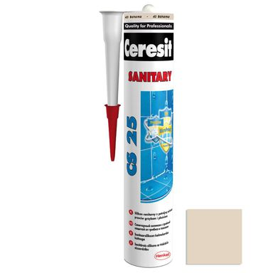 Silikon sanitarny  CS-25 280 ml Ciemny beżowy CERESIT