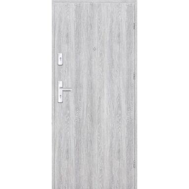 Drzwi zewnętrzne drewniane Grafen Dąb Srebrny 90 Prawe otwierane do wewnątrz Nawadoor