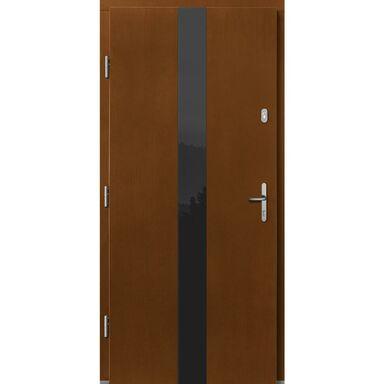 Drzwi zewnętrzne drewniane Dorado afromozja 90 lewe Lupol