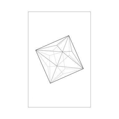 Obraz na pilśni FIGURA GEOMETRYCZNA 50 x 70 cm