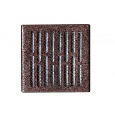 Kratka wentylacyjna stalowa 14 X 14cm brąz młotkowany EQUATION