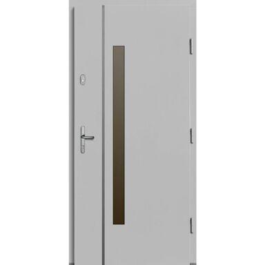 Drzwi zewnętrzne drewniane Kalipso białe 90 prawe Lupol