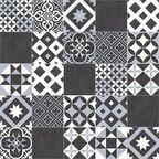 Wykładzina PCV Plaza Amadora czarno-biała mozaika 2 m