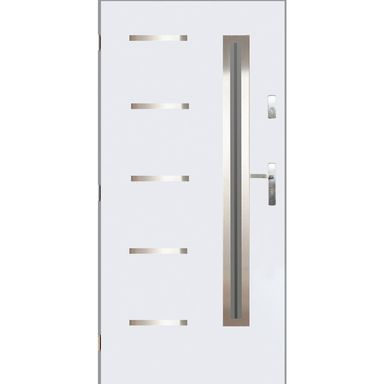 Drzwi zewnętrzne stalowe Nike białe 90 lewe Pantor
