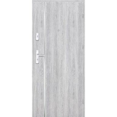 Drzwi zewnętrzne drewniane Grafen Top Dąb Srebrny 80 Prawe otwierane na zewnątrz Nawadoor