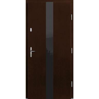 Drzwi zewnętrzne drewniane Dorado orzech 90 prawe Lupol