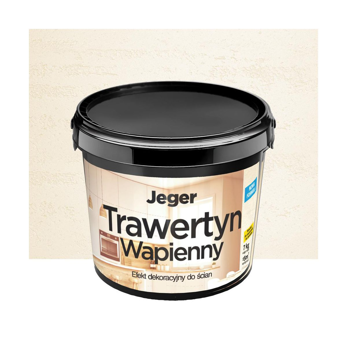 Efekt dekoracyjny TRAWERTYN WAPIENNY 7 kg JEGER