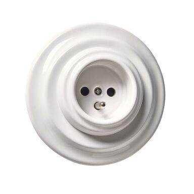 Gniazdo pojedyncze CLA5002  biały  DPM