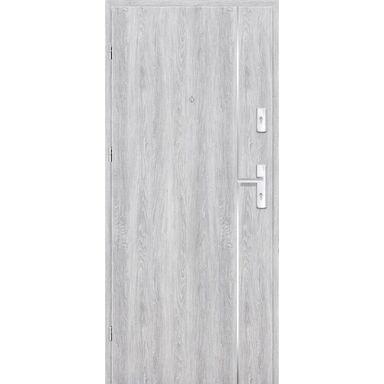 Drzwi zewnętrzne drewniane Grafen Top Dąb Srebrny 90 Lewe otwierane do wewnątrz Nawadoor