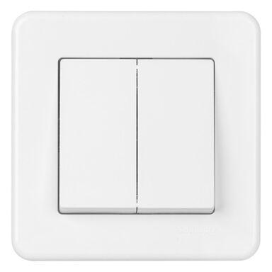 Włącznik podwójny LEONA  biały  SCHNEIDER ELECTRIC