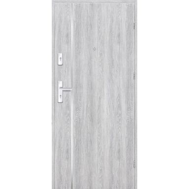 Drzwi zewnętrzne drewniane Grafen Top Dąb Srebrny 90 Prawe otwierane do wewnątrz Nawadoor