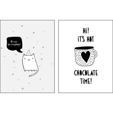 Zestaw 2 plakatów Chocolate Time 30 x 40 cm