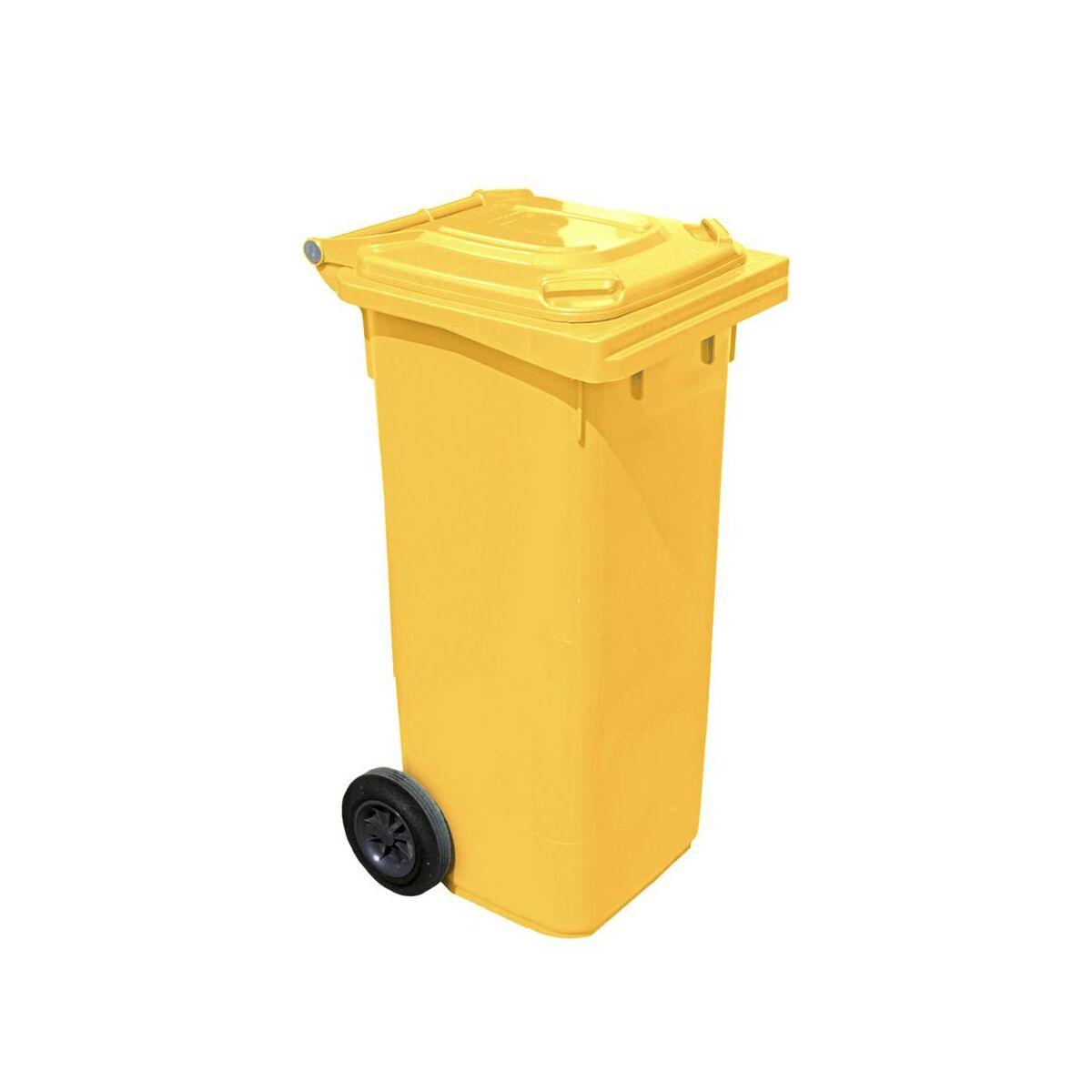 Kosz Na Smieci 120 L Arregui Zolty Na Odpady Plastikowe I Metalowe Kosze Na Smieci Pojemniki Na Odpady W Atrakcyjnej Cenie W Sklepach Leroy Merlin