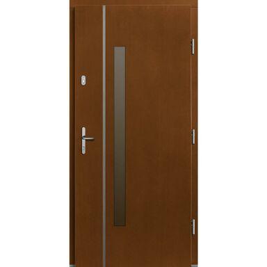 Drzwi zewnętrzne drewniane Kalipso afromozja 90 prawe Lupol