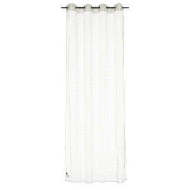 Firana na przelotkach Laberinto 140 x 260 cm biała Inspire