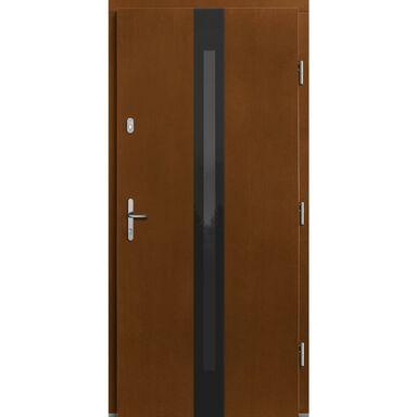 Drzwi zewnętrzne drewniane Izar sosna afromozja 90 prawe Lupol