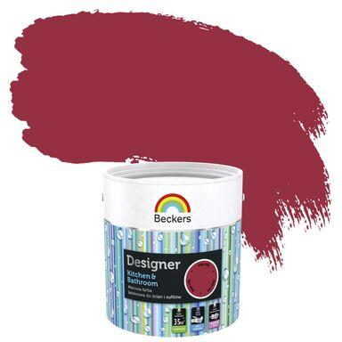 Farba wewnętrzna DESIGNER KITCHEN & BATHROOM 2,5 l Deep Ruby BECKERS