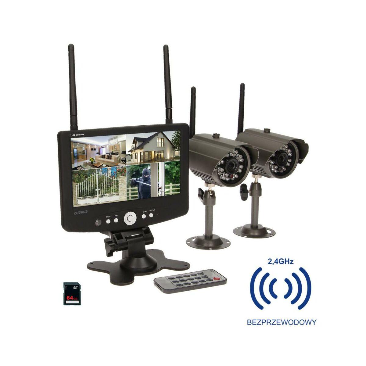Zestaw Do Wideomonitoringu Or Mt Je 1801 2 Kamery Orno Kamery Do Monitoringu W Atrakcyjnej Cenie W Sklepach Leroy Merlin