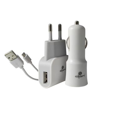 Zestaw zasilaczy USB SG12I MICROUSB DPM