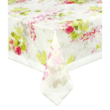 Obrus na stół ACUARELAS różowy 130 x 180 cm