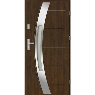 Drzwi zewnętrzne stalowe SIENNA Orzech 90 Prawe EVOLUTION