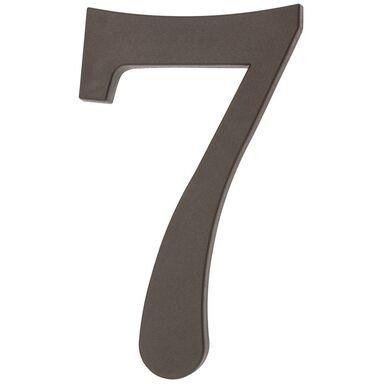 Cyfra 7 wys. 18 cm PVC brązowa
