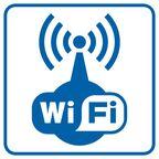 Znak informacyjny WIFI 14.8 x 14.8 cm