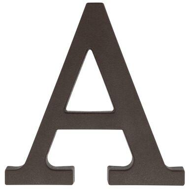 Litera A wys. 9 cm PVC brązowa