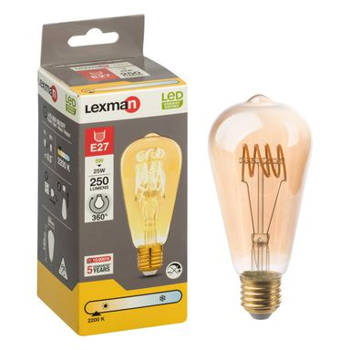 Żarówka LED E27 (230 V) 5 W 250 lm LEXMAN