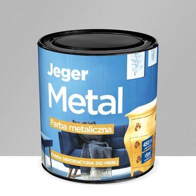 Farba dekoracyjna do mebli METAL 0.45 l Srebro Metaliczna JEGER