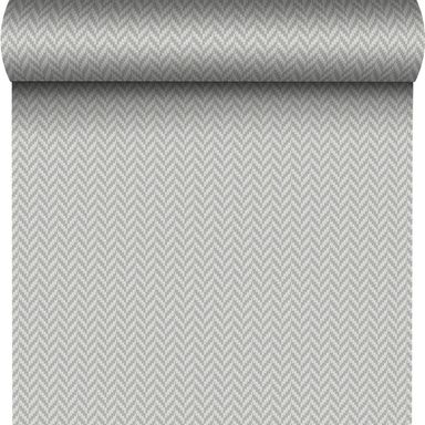 Tapeta HERRINGBONE szara w jodełkę papierowa